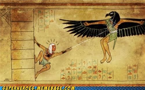 Awesome Art,egyptian,old,ra,Spider-Man,vulture
