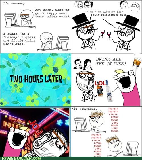 all the things,drinking,hungover,Rage Comics