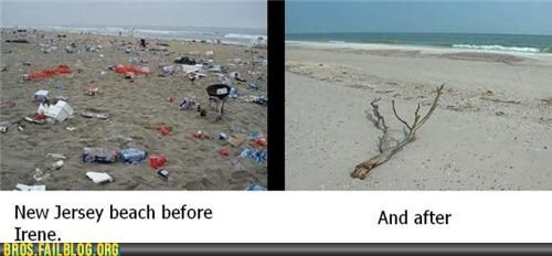 beach,better than expected,clean up,guidette,guido,Hall of Fame,hurricane irene,jersey shore,Photo