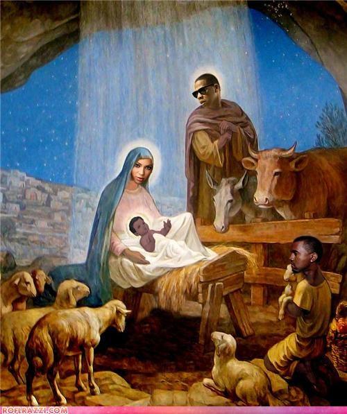 religion baby beyoncé celeb funny Jay Z kanye west Music rap shoop wtf - 5145524736