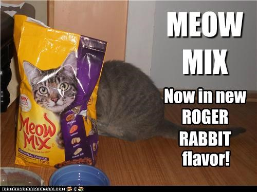 MEOW MIX Now in new ROGER RABBIT flavor!