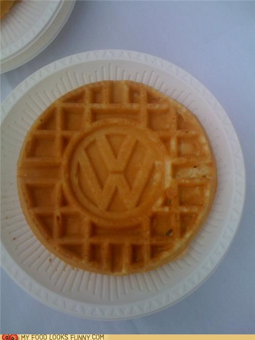 advertising car logo volkswagon VW waffle waffle iron - 5145725440