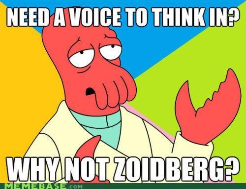 fry futurama head obvious voice you are reading this Zoidberg