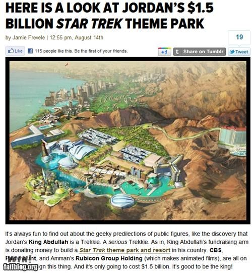 amusement park,completely relevant news,international,jordan,nerdgasm,Star Trek,theme park