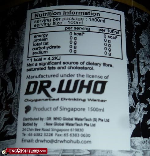 beverage doctor who drink energy drink food pop culture - 5145757952