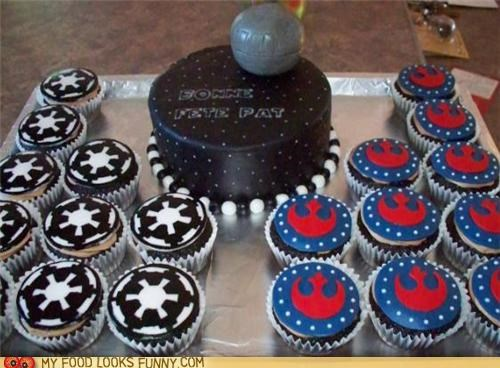 birthday cake cupcakes Death Star empire rebel alliance star wars