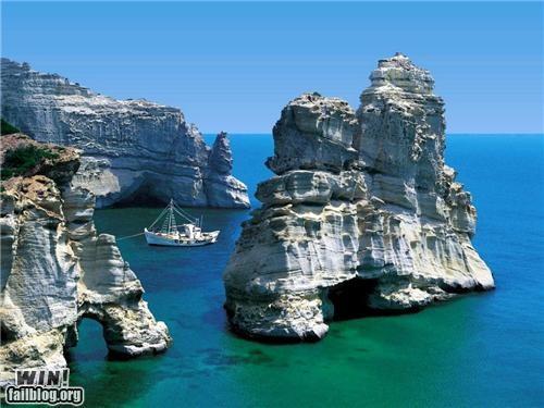 boat cove island ocean rocks Tropical - 5146743808