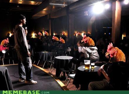 anti joke chicken comedy crowd flat jokes tough venue - 5146879232