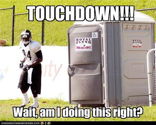 doing it wrong,football,porta potty,sports,toilets,Up Next in Sports