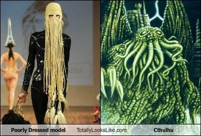 Poorly Dressed Model Totally Looks Like Cthulhu