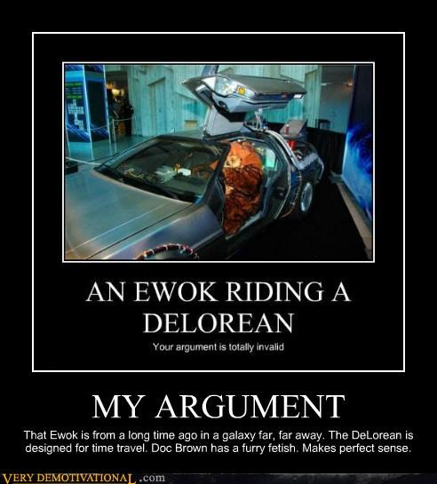 DeLorean ewok implied horse love sound logic time travel tunnel - 5147435008