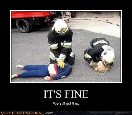 cpr,decapitation,firemen,just-kidding-relax,rescue,we got this