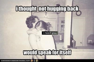 hugging signals weird kid wtf - 5147591424