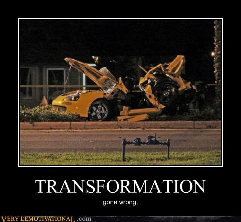 car crash hilarious transformation transformers - 5147975680