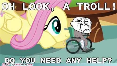 fluttershy,ponies,so nice,troll,what a sweetheart