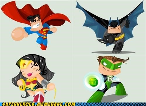 Awesome Art batman cute Green lantern shiny superman wonder woman - 5148146176