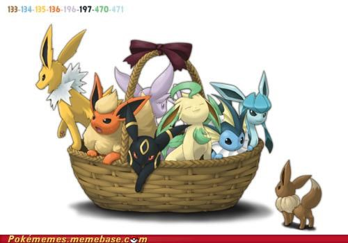 art basket eevee evolutions which is your favorite - 5148291328