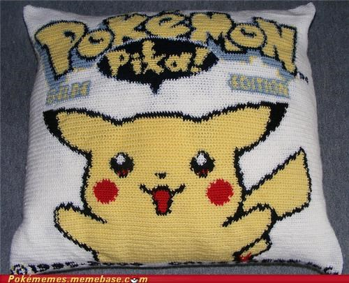 awesome IRL pikachu pokepillow yellow edition - 5148379136