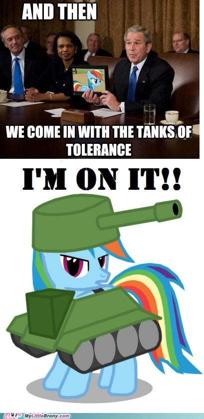 comics,George Bush,love and tolerance,rainboom,rainbow dash
