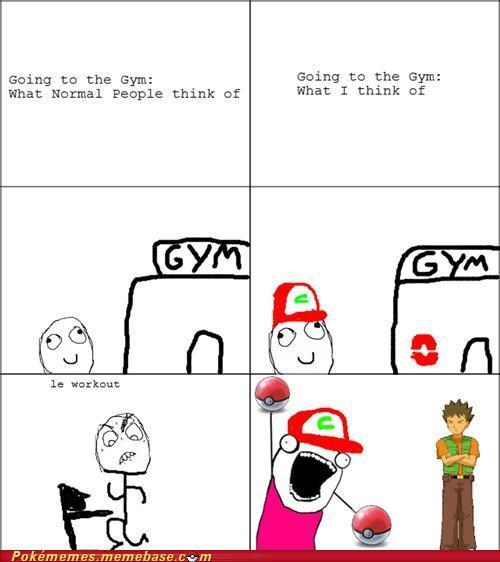all the things,brock,gym,pokemon gym,Rage Comics,what I think