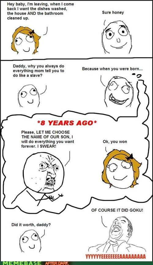 awesome,goku,kids,names,Rage Comics