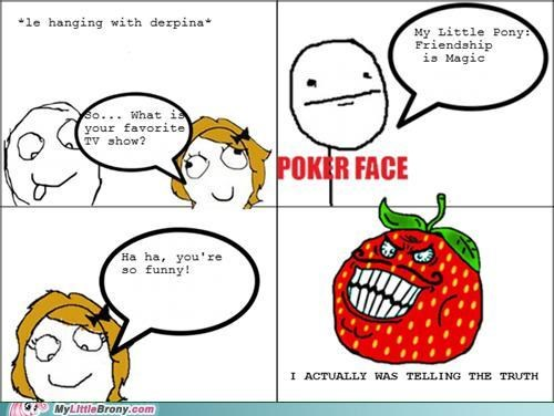 comics poker face Rage Comics strawberry guy told the truth - 5148647424