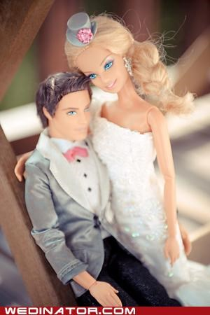 Barbie,funny wedding photos,ken,photo shoot