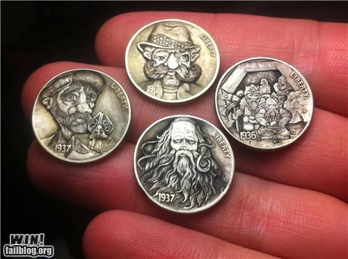art carving coin currency hobby