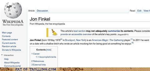 dating,jon finkel,magic,nerd,wikipedia