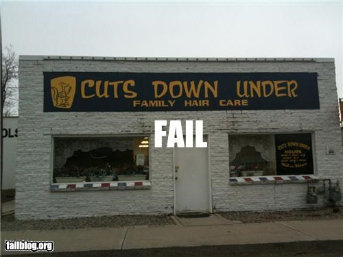 business name failboat g rated haircut slogan - 5149092608