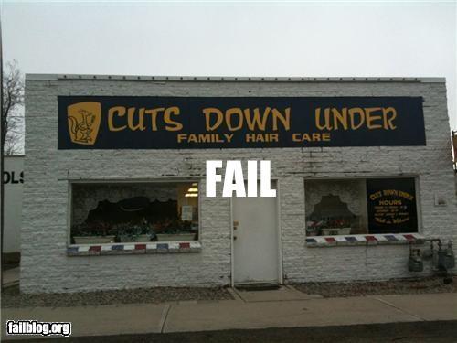 business name failboat g rated haircut slogan - 5149092608