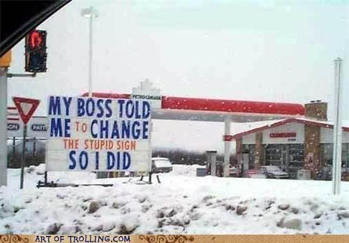 boss IRL sign snow - 5149133568