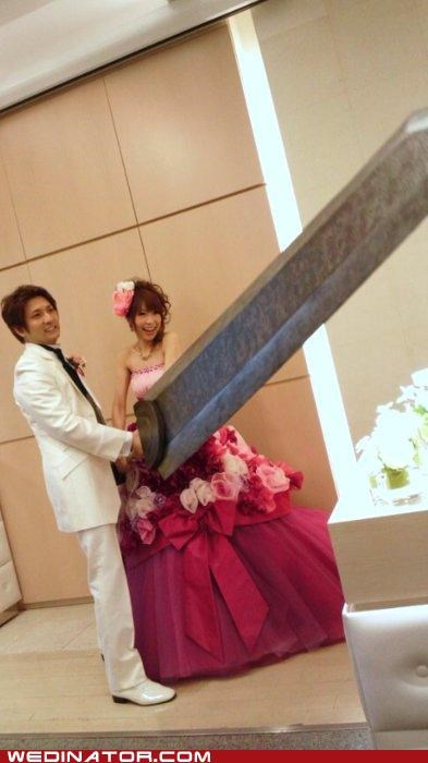final fantasy funny wedding photos Hall of Fame swords video games - 5149155840