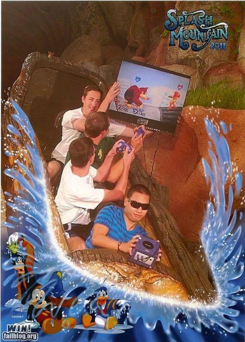 amusement park,gamecube,Like a Boss,log flume,nerdgasm,smash bros,splash mountain