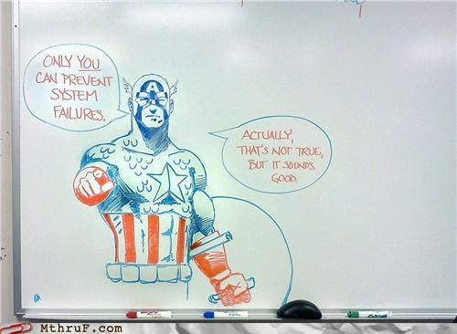 captain america it whiteboard