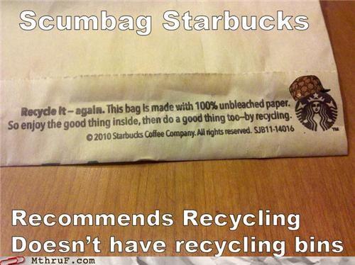 environment recycling Starbucks - 5149425920