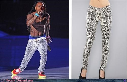 cross dressing jeggings leopard print lil wayne pants vma