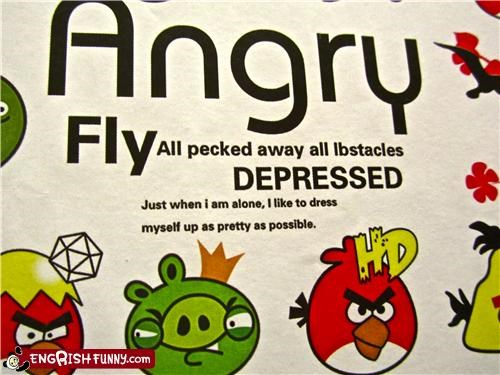 angry birds depressed depressing fashion knockoff shirt