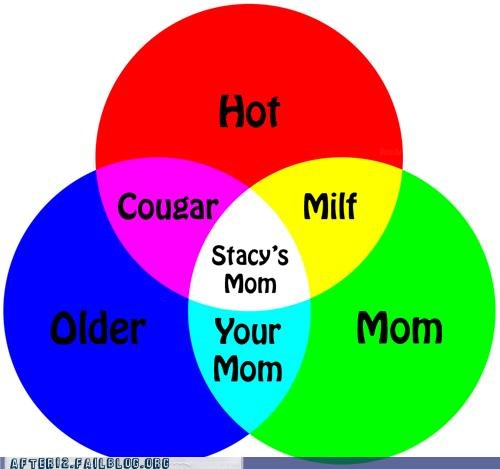 How to categorize older ladies in at the bar after 12 funny colors cougar infographic milf stacys mom venn diagram 5150617088 ccuart