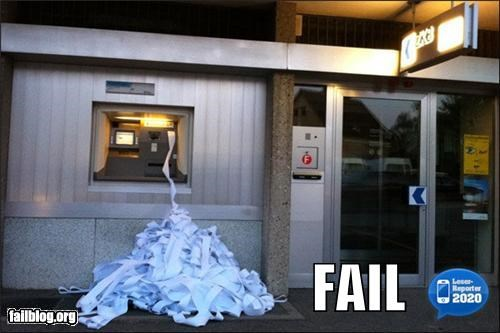 ATM failboat g rated receipt technology