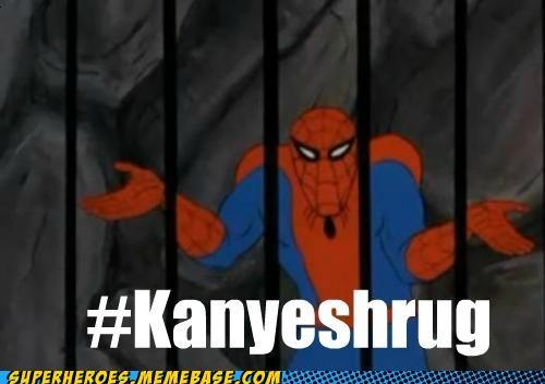 kanye shrug Spider-Man Super-Lols twitter - 5151974144