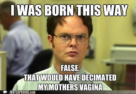 born this way dwight schrute false lady gaga rainn wilson roflrazzi the office - 5152120064