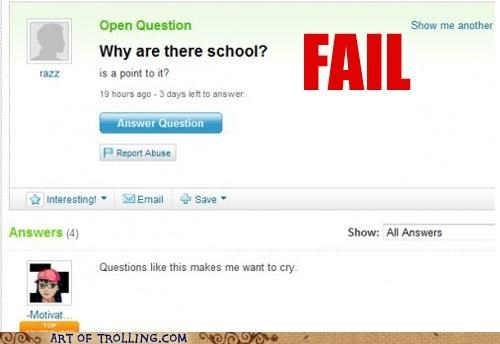 fail answer grammar school Yahoo Answer Fails - 5152122368