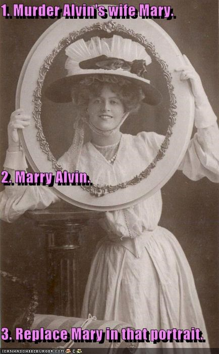 creepy,frames,historic lols,marriage,marry,murder,portraits,women