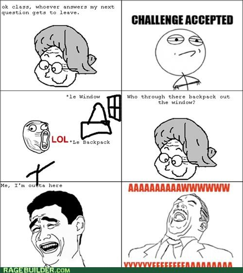 answer question Rage Comics troll - 5152382464