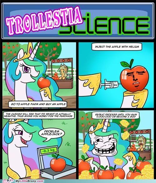 applejack comic comics princess celestia troll - 5152448000