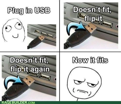 best of week,fits,flip over,Rage Comics,USB,wtf