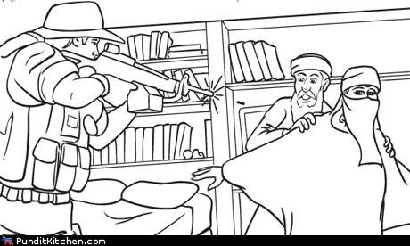 coloring book kids Osama Bin Laden political pictures september 11th