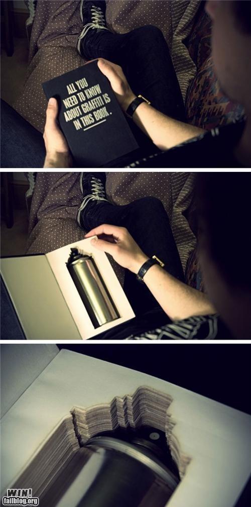 advice book graffiti hacked hidden reading is sexy spray paint - 5152582912