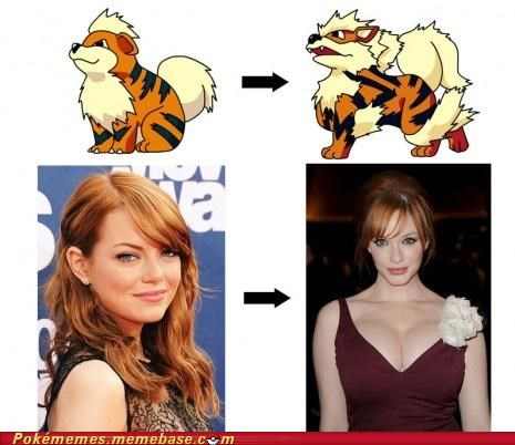 celeb evolution Evolve growlithe IRL IRL evolution red hair